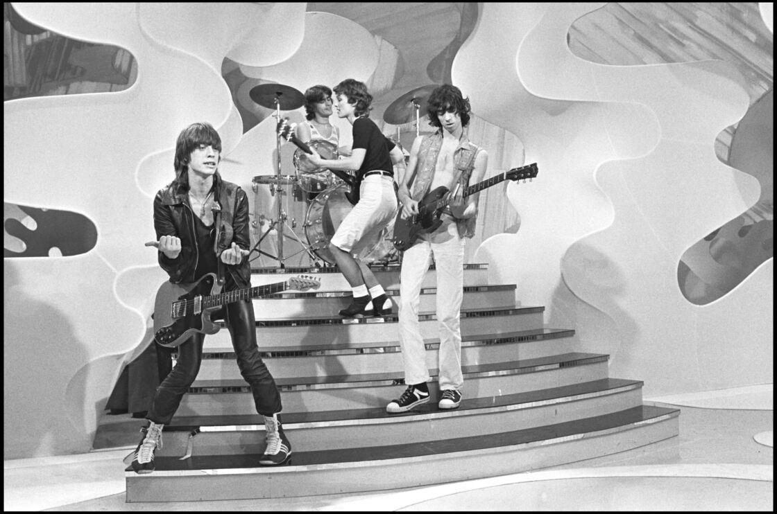 Le groupe Téléphone sur un plateau télé en 1977