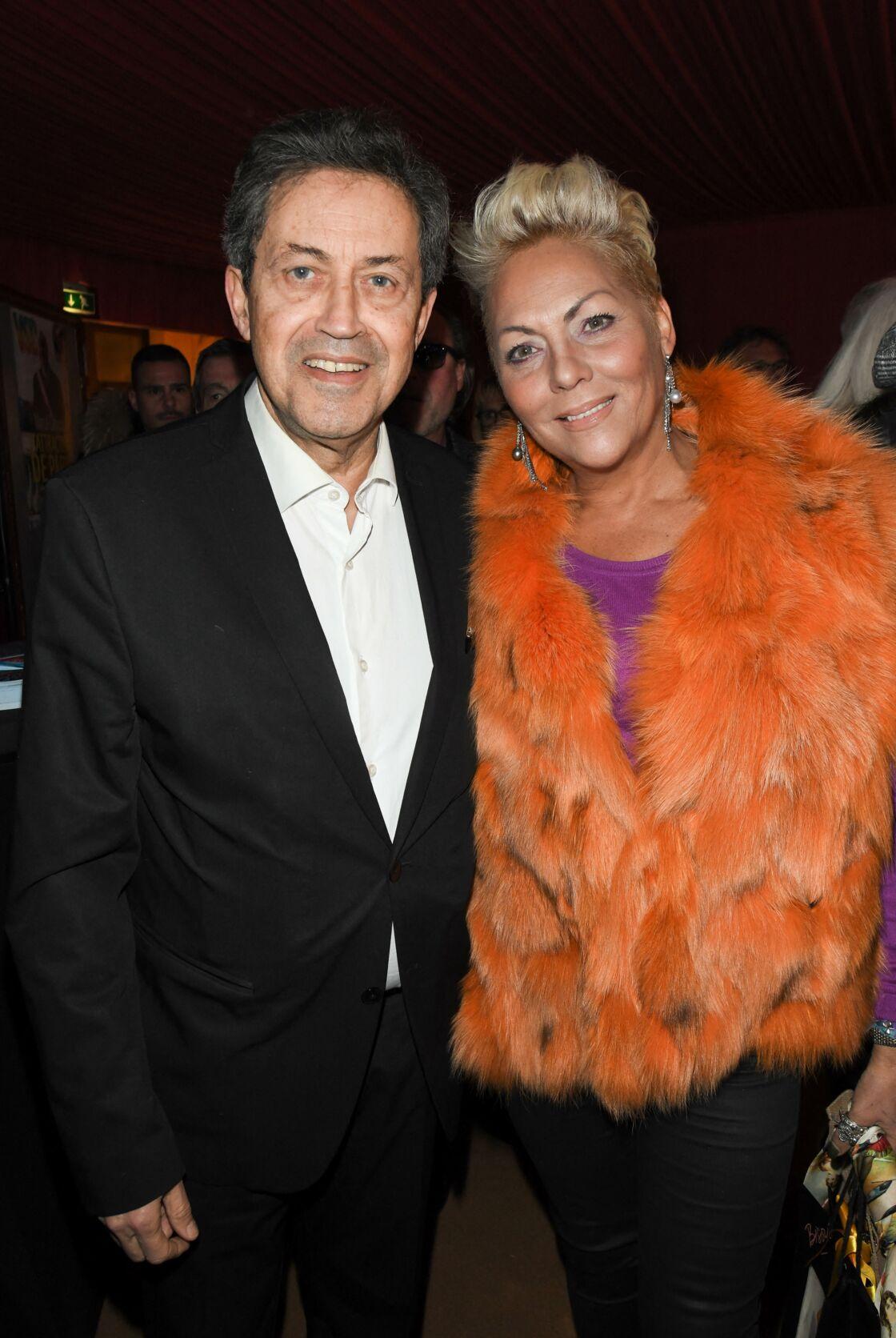 Georges Fenech et Hermine de Clermont-Tonnerre lors du 80ème anniversaire de Marcel Campion au cirque d'hiver de Paris, le 17 février 2020