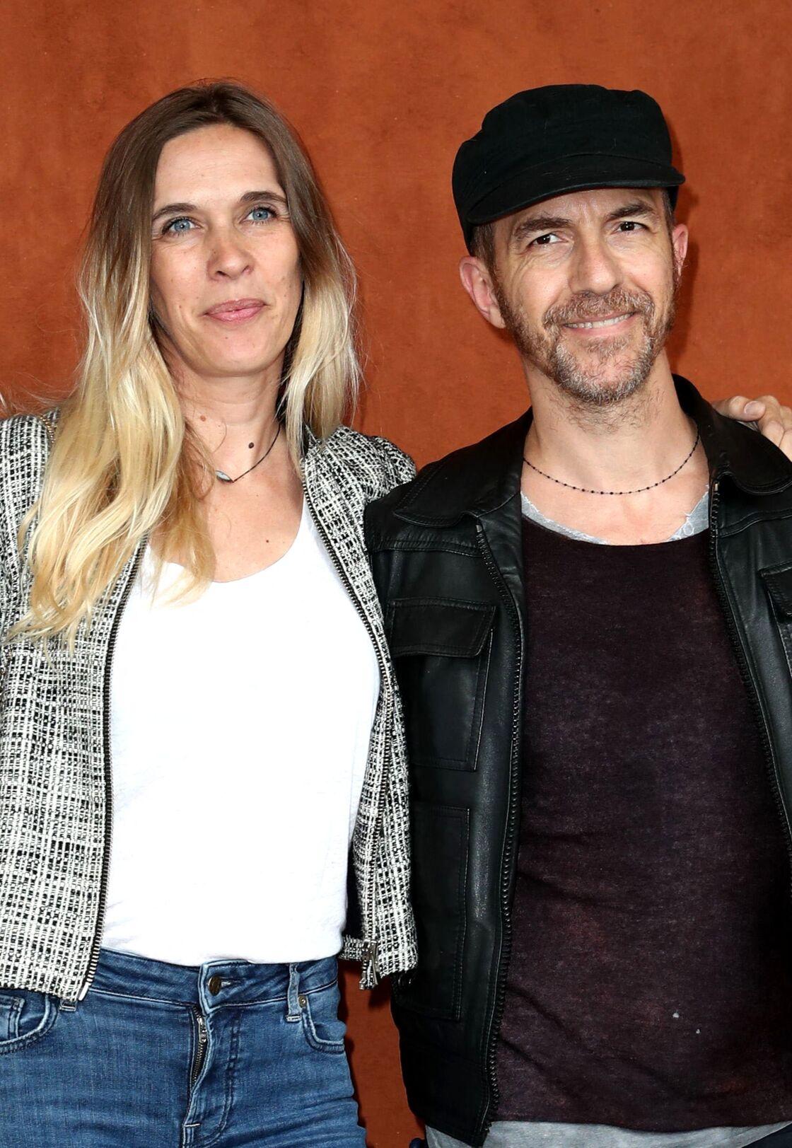 Calogero et sa compagne Marie Bastide, à Roland Garros, en juin 2019.