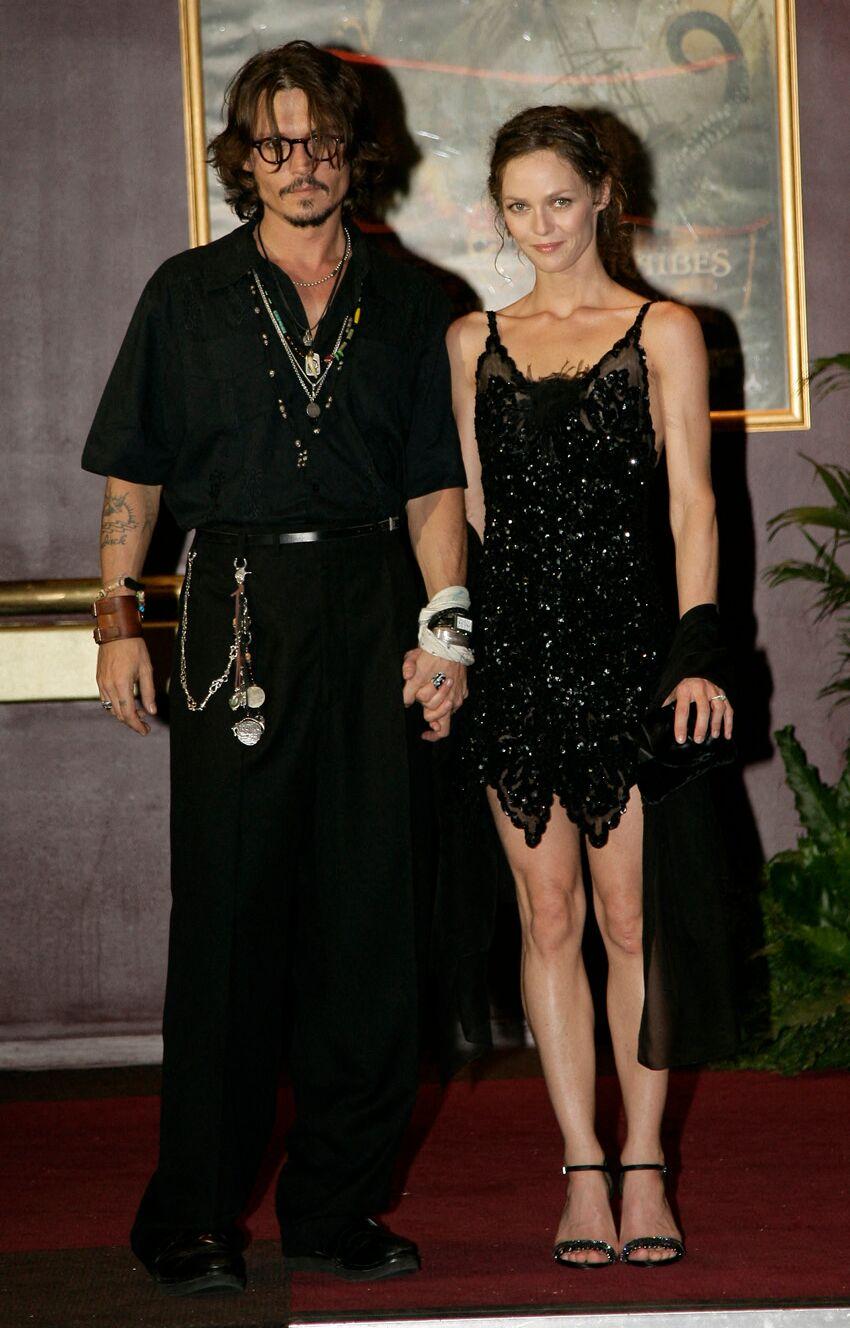 Johnny Depp et Vanessa Paradis en 2006