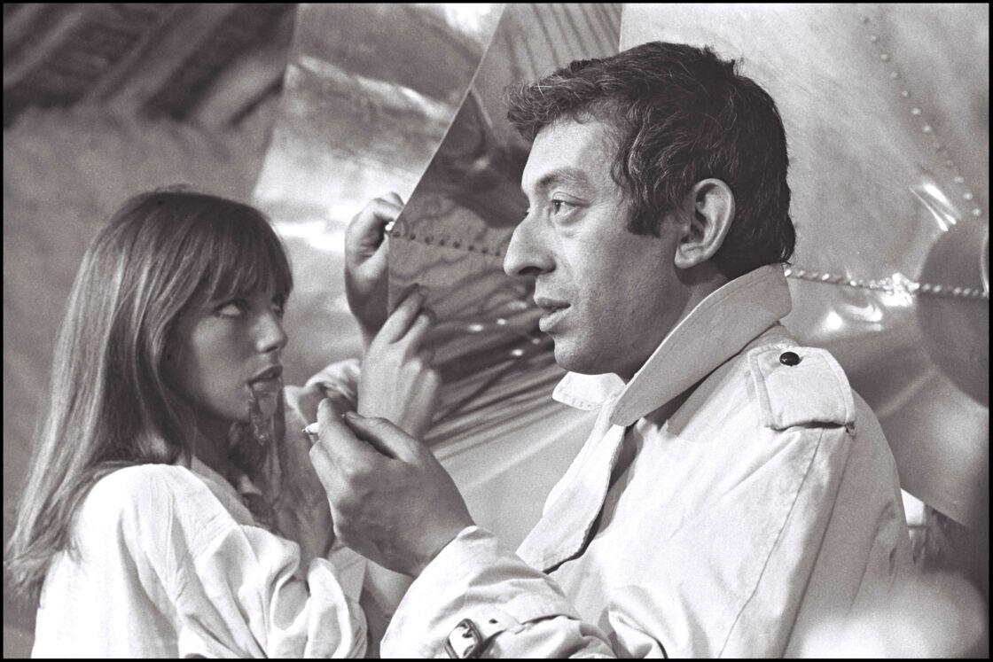 Jane Birkin et Serge Gainsbourg au tout début de leur histoire, sur le tournage du film