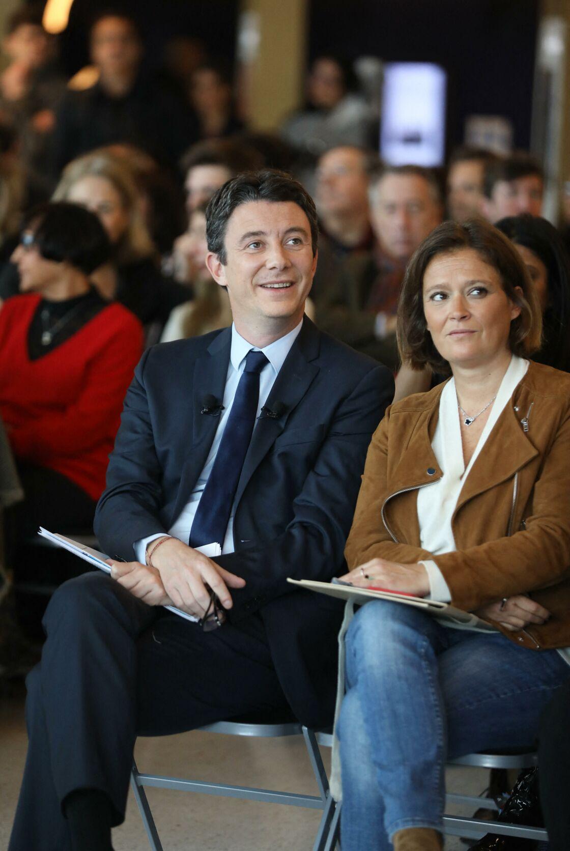 Benjamin Griveaux et Olivia Grégoire à Paris le 13 février 2020, la veille de son retrait des Municipales.