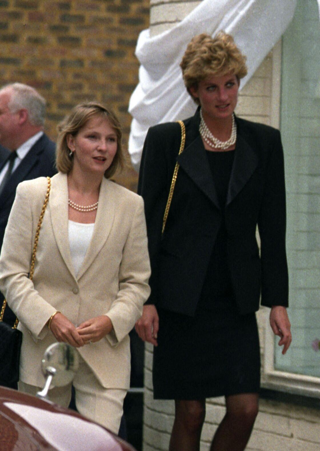 Julia Samuel et la princesse Diana, en 1993
