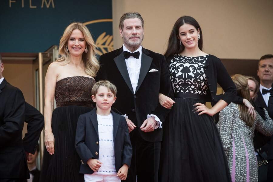 John Travolta, Kelly Preston, Ella et Ben