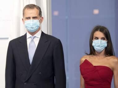 PHOTOS - Letizia d'Espagne glamour et tendance même avec un masque