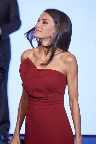 Letizia d'Espagne, cheveux aux vents