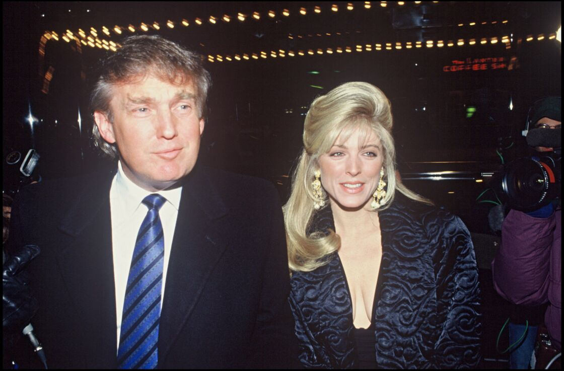 Marla Maples et Donald Trump en 1991