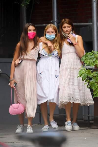 Suri Cruise lors d'une virée entre copines, le 15 juillet 2020 à New York