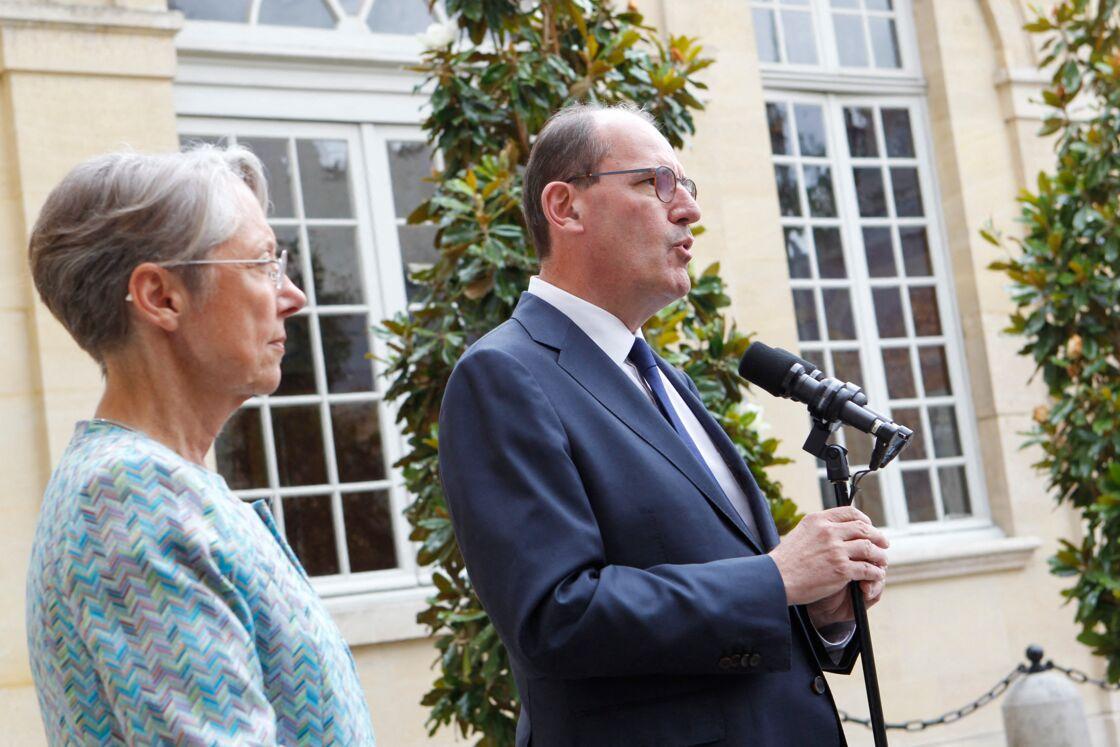 Elisabeth Borne, ministre du Travail, Jean Castex, Premier Ministre - Rencontre des partenaires sociaux à l'occasion de la Conférence du dialogue social à Matignon, Paris le 17 juillet 2020.