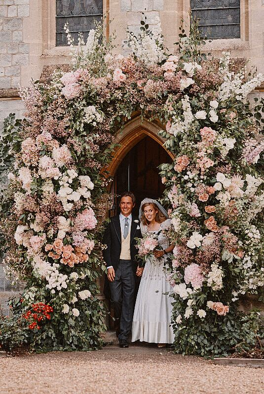 Princesse Beatrice et son mari Edo, le 17 juillet 2020.