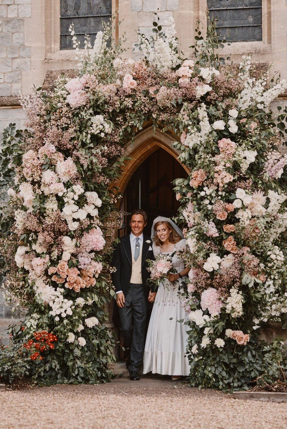 Mariage de la prince Beatrice d'York avec Edoardo Mapelli Mozzi, le 17 juillet 2020.