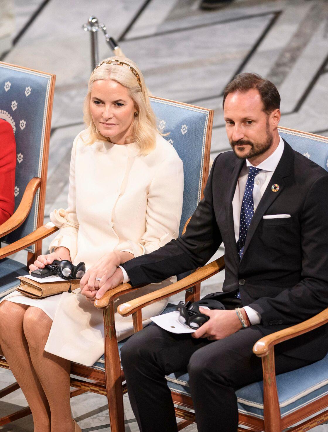 Le prince Haakon de Norvège et sa femme Mette-Marit