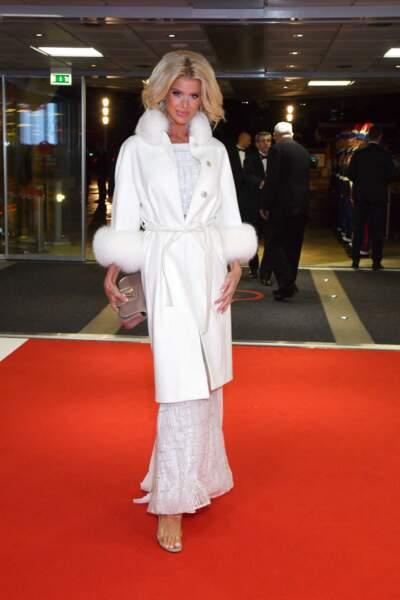 Victoria Silvstedt à l'occasion de la fête nationale monégasque au Grimaldi Forum à Monaco, le 19 novembre 2019.
