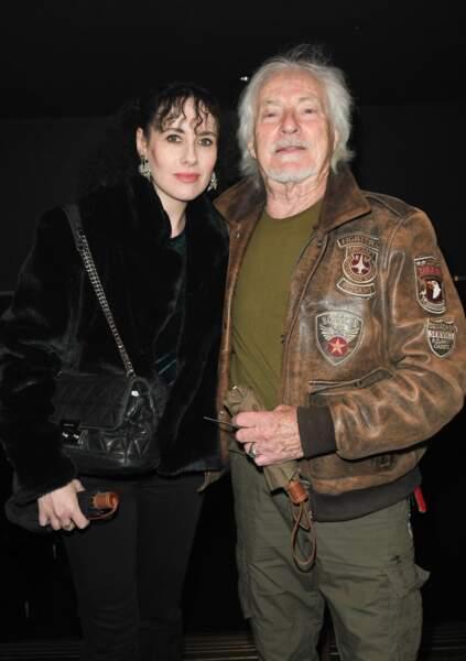 Hugues Aufray et sa compagne Muriel ont assisté ensemble au concert de Dave à Bobino, en novembre 2019