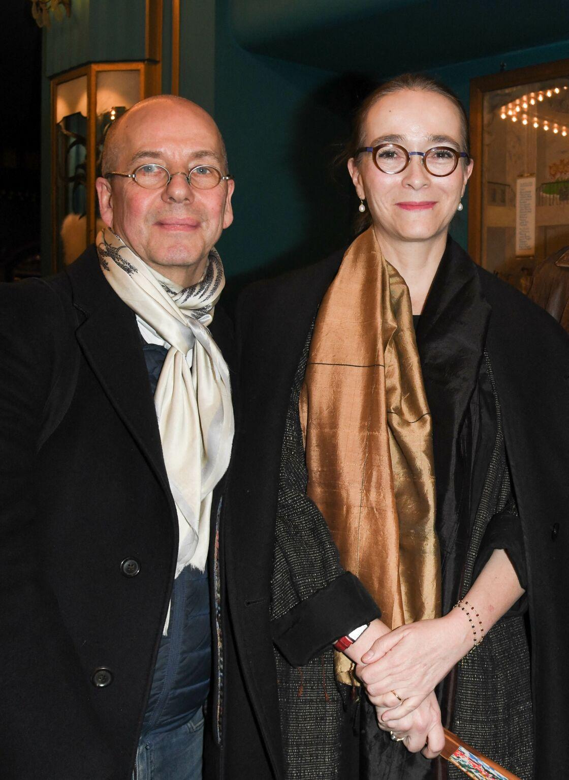 Delphine Ernotte et son mari Marc Ernotte à la 100ème du spectacle Alex Lutz aux Folies Bergère, à Paris, le 17 janvier 2020.