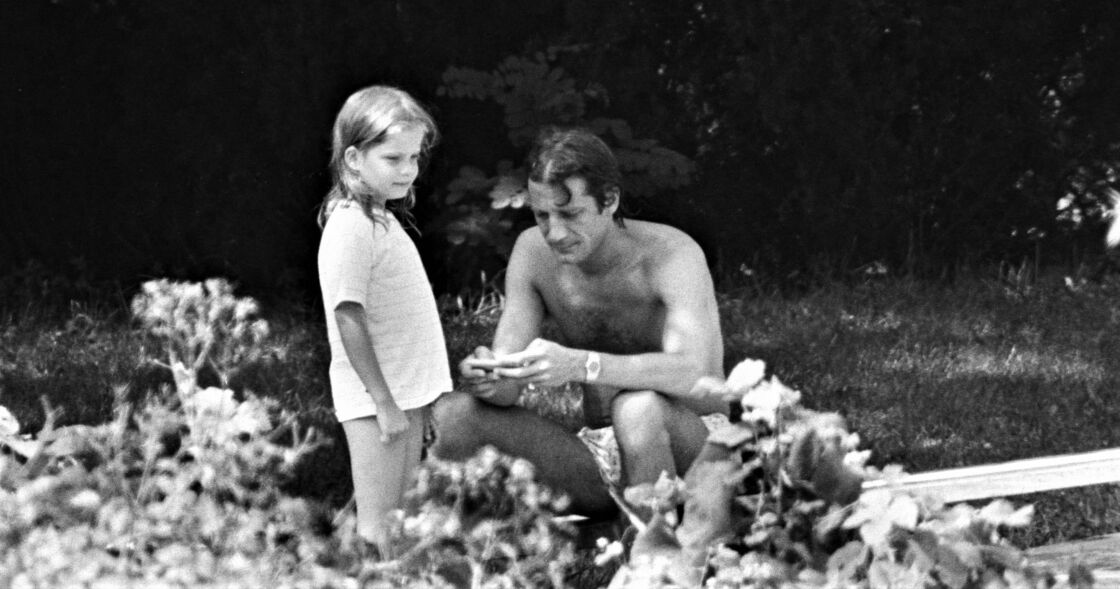 Sarah Biasini et son père Daniel en 1981.
