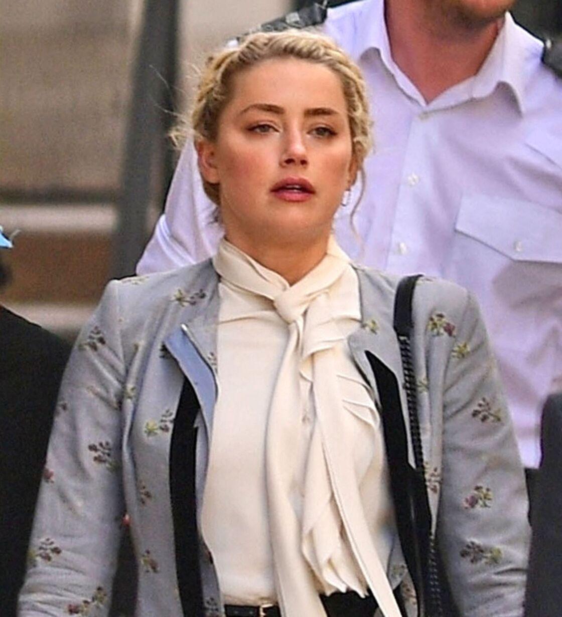 Ce mardi 21 juillet, Amber Heard semblait éprouvée après avoir témoigné à la Cour royale de justice de Londres