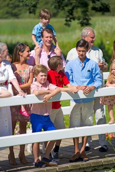 Le prince Felix et sa famille le 24 juillet 2014