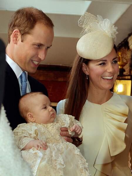 le prince George le jour de son baptême, le 23 octobre 2013 .