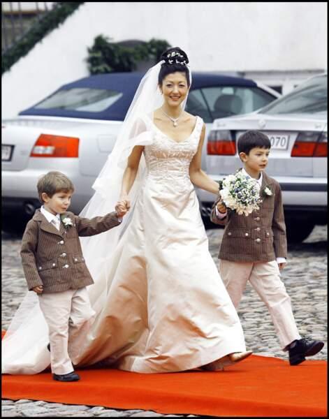 Les princes Nikolaï et Felix au mariage de leur mère
