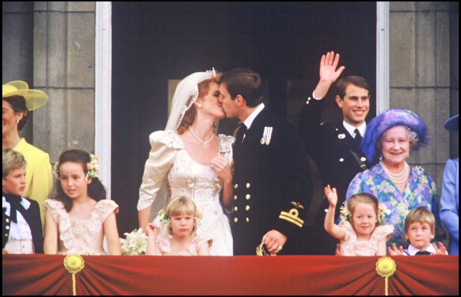 Sarah Ferguson et le prince Andrew, lors de leur mariage le 23 juillet 1986.
