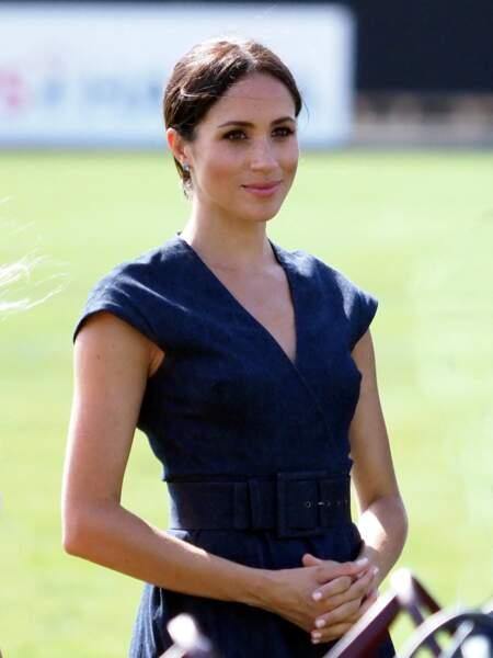Meghan Markle, sa fameuse robe en denim Carolina Herrera.