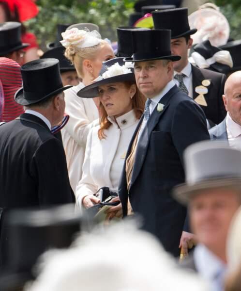 Le prince Andrew et Sarah Ferguson, lors des courses hippiques du Royal Ascot, le 17 juin 2016.