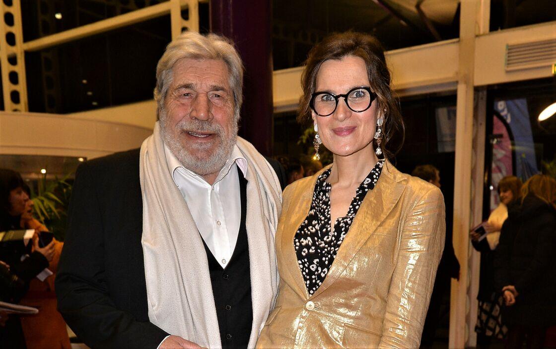 ean-Pierre Castaldi et Armelle lors de la soirée d'ouverture du 10e festival de cinéma de Valenciennes, le 11 mars 2020.