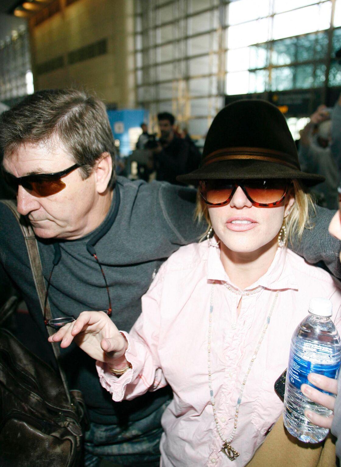 Britney Spears et son père, Jame Spears, en 2008