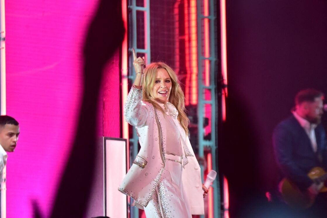 Kylie Minogue en concert au GRLS Festival à Sao Paulo le 7 mars 2020.