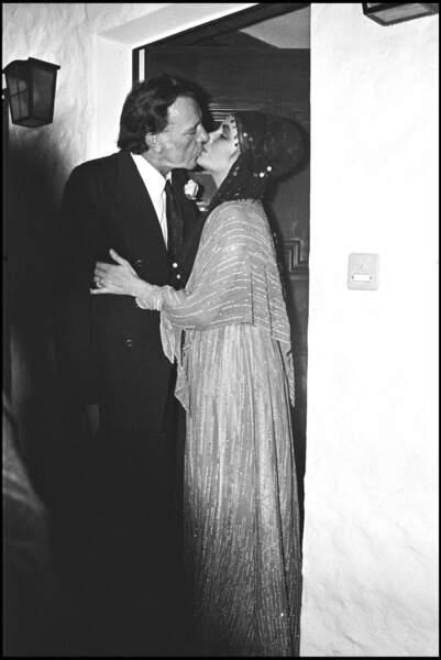 Elizabeth Taylor et Richard Burton en 1994.