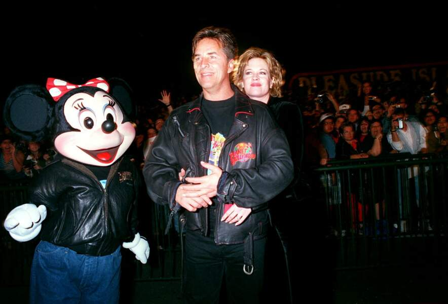 Don Johnson et Melanie Griffith lors de l'inauguration d'un restaurant à Orlando en 1994.