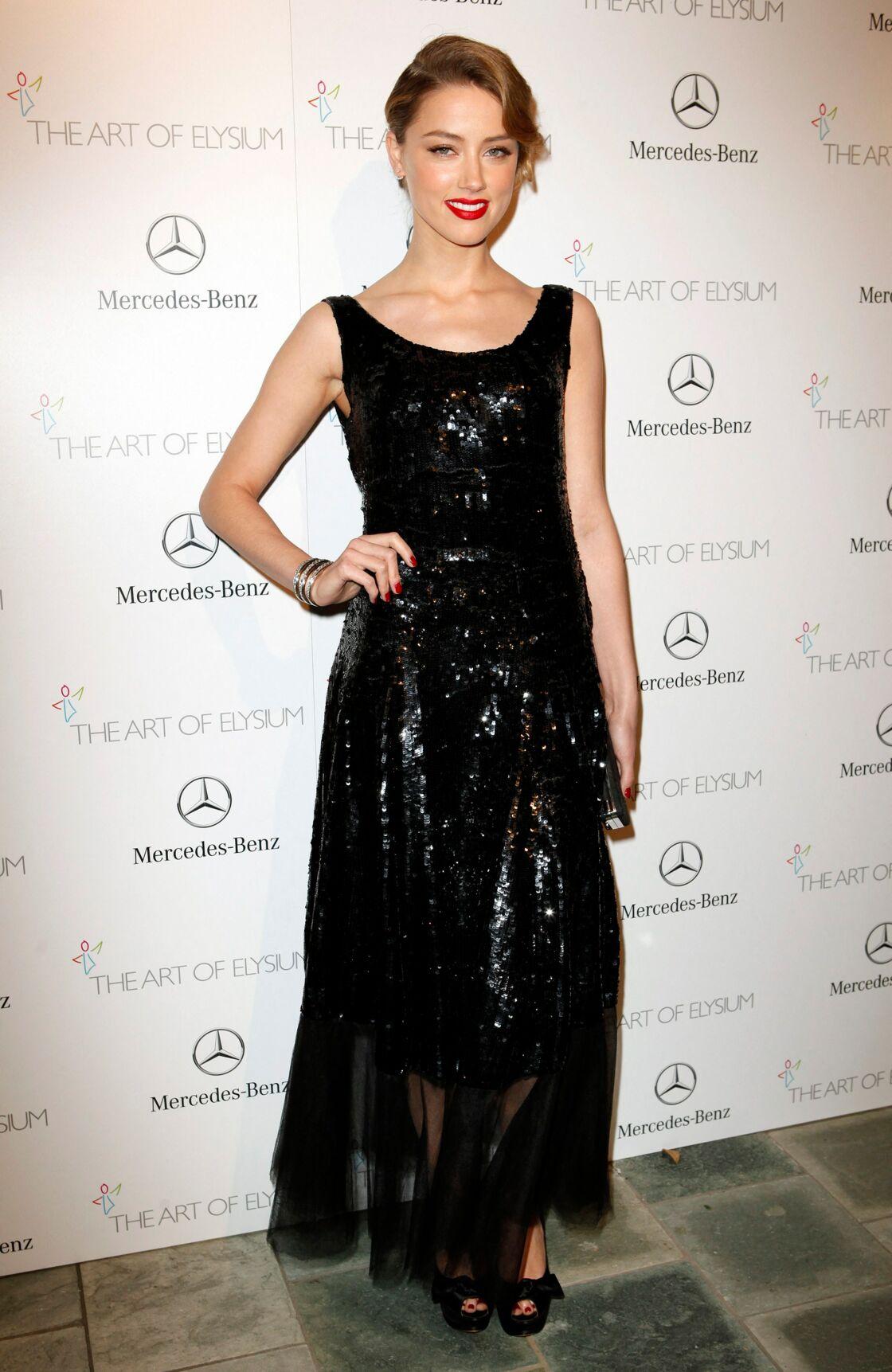 Amber Heard, au gala Art of Elysium en 2014.