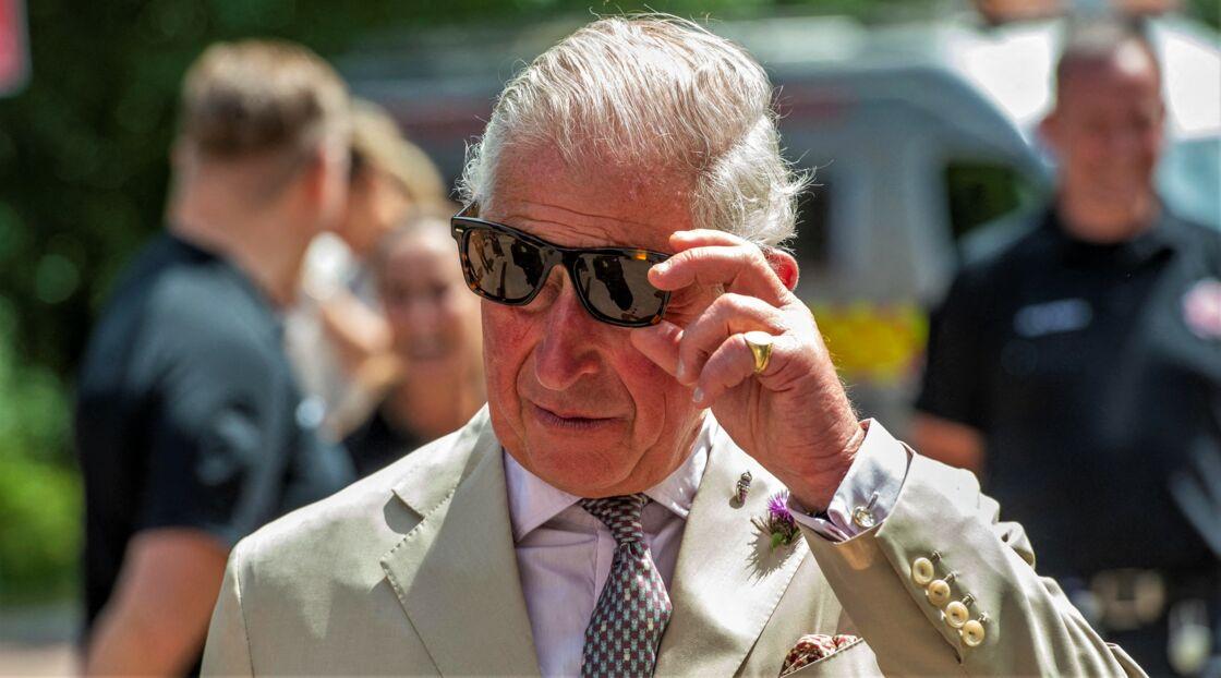 Le prince Charles en visite d'une caserne, dans le Devon, le 23 juillet 2020.