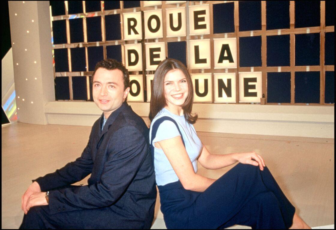 Olivier Chiabodo et Frédérique Le Calvez sur le plateau de La Roue de la fortune