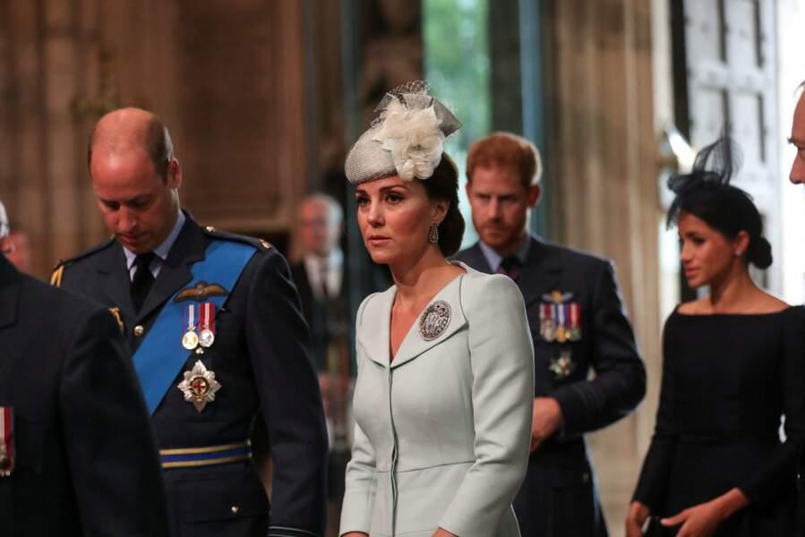 Kate Middleton et Meghan Markle s'étaient retrouvées à l'abbaye de Westminster pour le centenaire de la RAF à Londres en juillet 2018.