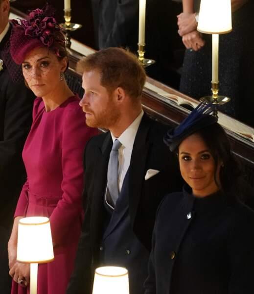 Les tensions entre Kate Middleton et Meghan Markle ne remontent pas d'hier. Elles étaient déjà palpables lors de la cérémonie de mariage de la princesse Eugenie d'York et Jack Brooksbank en 2018.