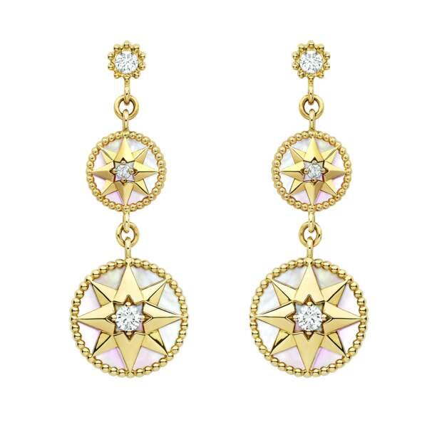 Boucles d'oreilles en or, 5500 €, Dior Joaillerie.