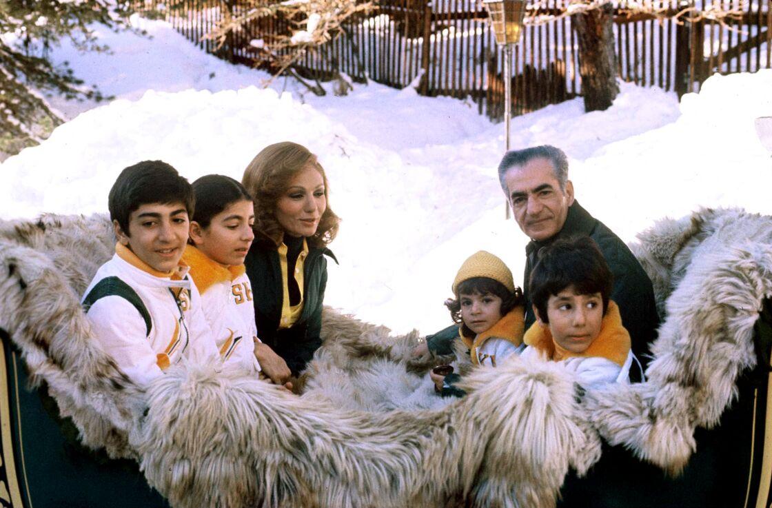 Le couple et leurs enfants avant la révolution iranienne