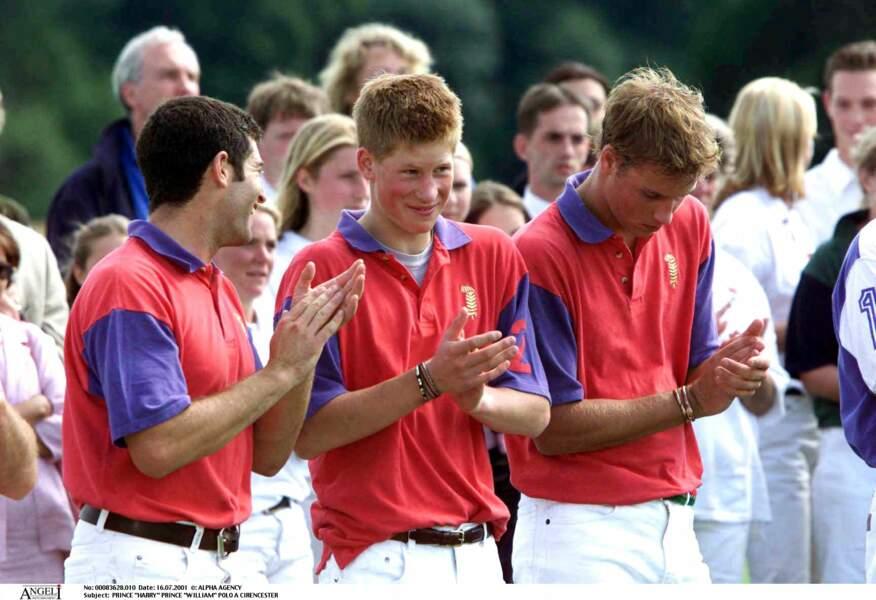 Harry et William partagent une passion commune pour le polo. A l'occasion de matchs caritatifs, ils mouillent souvent le maillot ensemble.