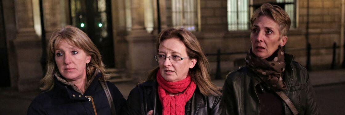 Les trois filles de Jacqueline Sauvage, Sylvie, Carole et Fabienne, à Paris, le 29 janvier 2016.