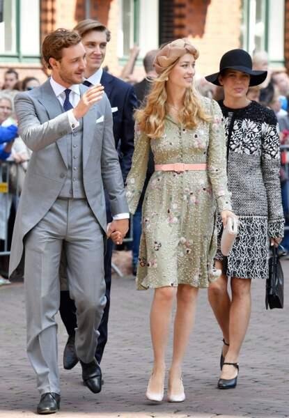 Pierre Casiraghi, Beatrice Borromeo et la famille princière au mariage du prince Ernst August Jr de Hanovre et de Ekaterina Malysheva le 8 juillet 2017.