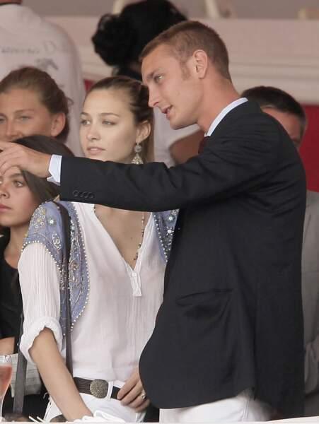Pierre Casiraghi et Beatrice Borromeo au 16ème Jumping International de Monaco en 2010. Ils se sont rencontrés à Cannes en 2008.