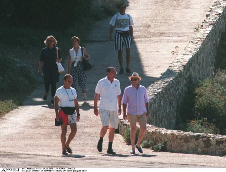 En son temps, Jacques Chirac a reçu des amis au Fort de Brégançon, où il passait un été en toute décontraction