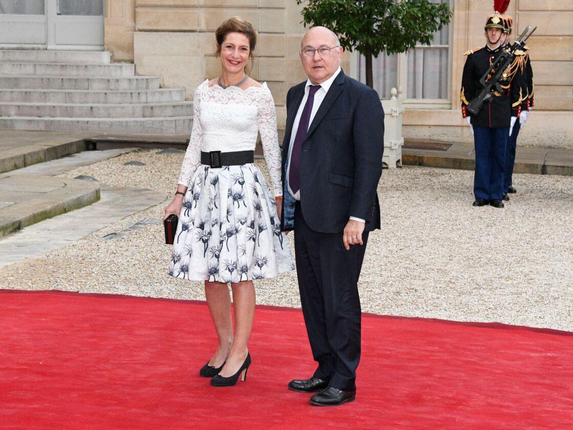 Valérie de Senneville et Michel Sapin, à l'Elysée, le 3 juin 2016