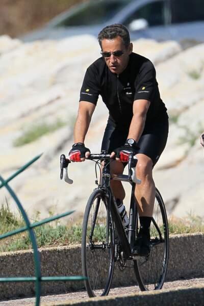 Nicolas Sarkozy profitait aussi de Brégançon pour faire des balades à vélo, l'une de ses activités favorites