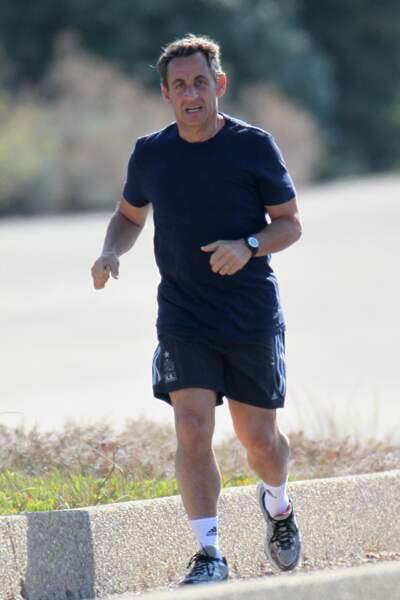 Quand il n'était pas en train de faire du vélo, Nicolas Sarkozy aimait aussi beaucoup courir pour se détendre
