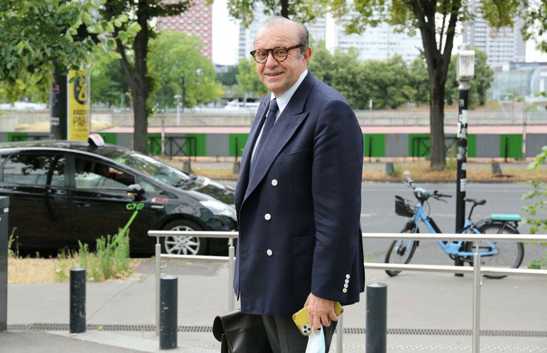 Me Hervé Témime, avocat de Gérard Depardieu, arrive à la radio France Inter le 1er juillet 2020.