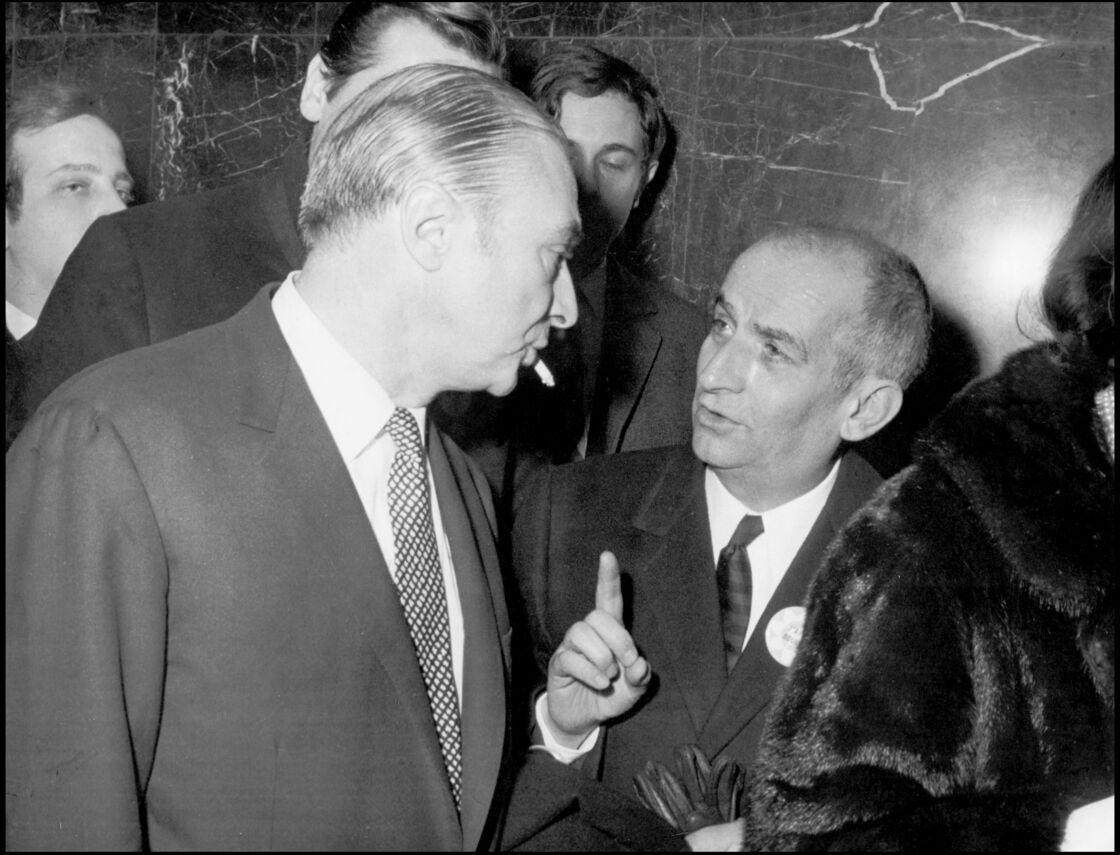 Gérard Oury et Louis de Funès, à la sortie de La Grande vadrouille, en 1966