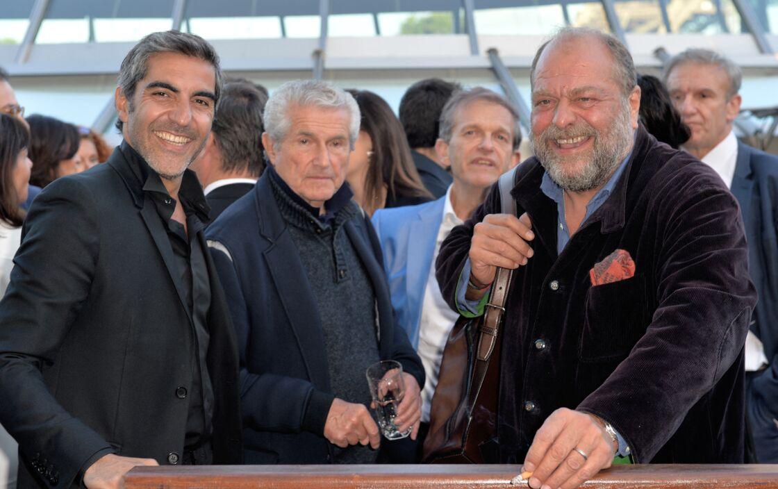 Ary Abittan, Claude Lelouch et Éric Dupond-Moretti, le 6 juin 2019